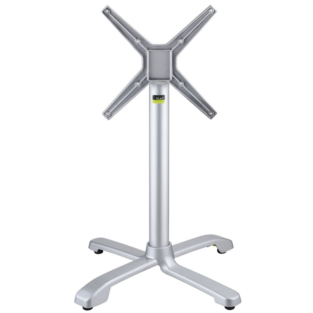 "Flat Tech CT4301 28.35"" Dining Height Table Base for 32"" Table Tops - Flip Top, Aluminum"
