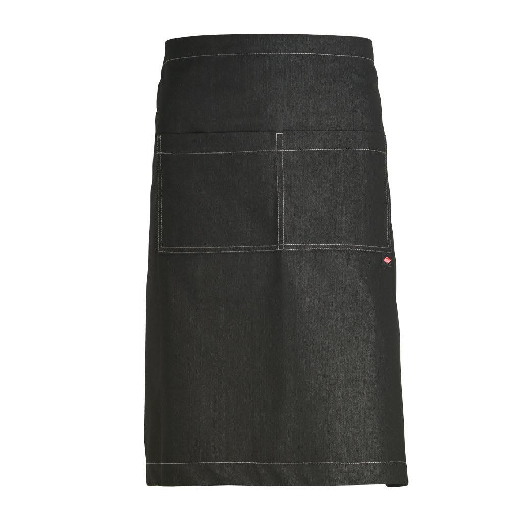 "Ritz CL2PWABKD-1 2-Pocket Waist Apron - 33"" x 30"", Cotton/Spandex, Black"