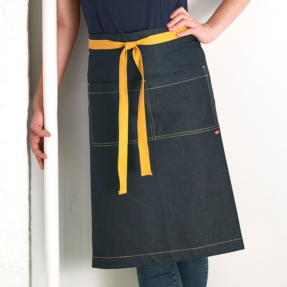 "Ritz CL2PWANVD-1 2-Pocket Waist Apron - 33"" x 30"", Cotton/Spandex, Navy Blue"