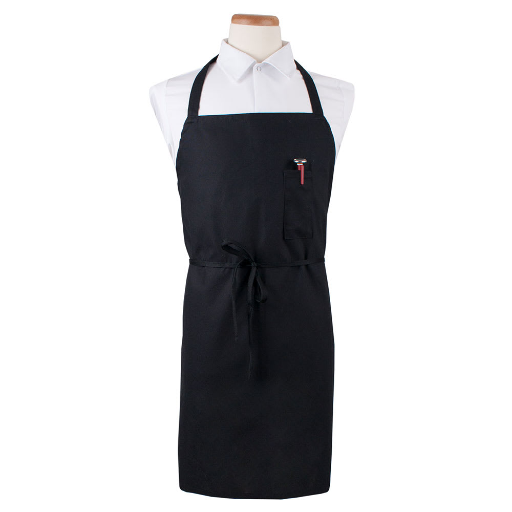 "Ritz CLBIABK-1 Bib Apron - 32"" x 32.5"", Cotton/Poly, Black"