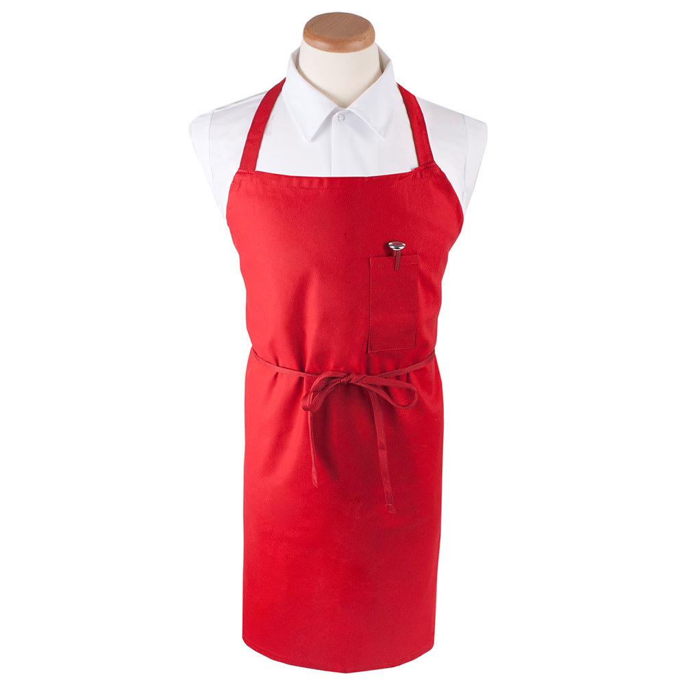 """Ritz CLBIARD-1 Bib Apron - 32"""" x 32.5"""", Cotton/Poly, Red"""