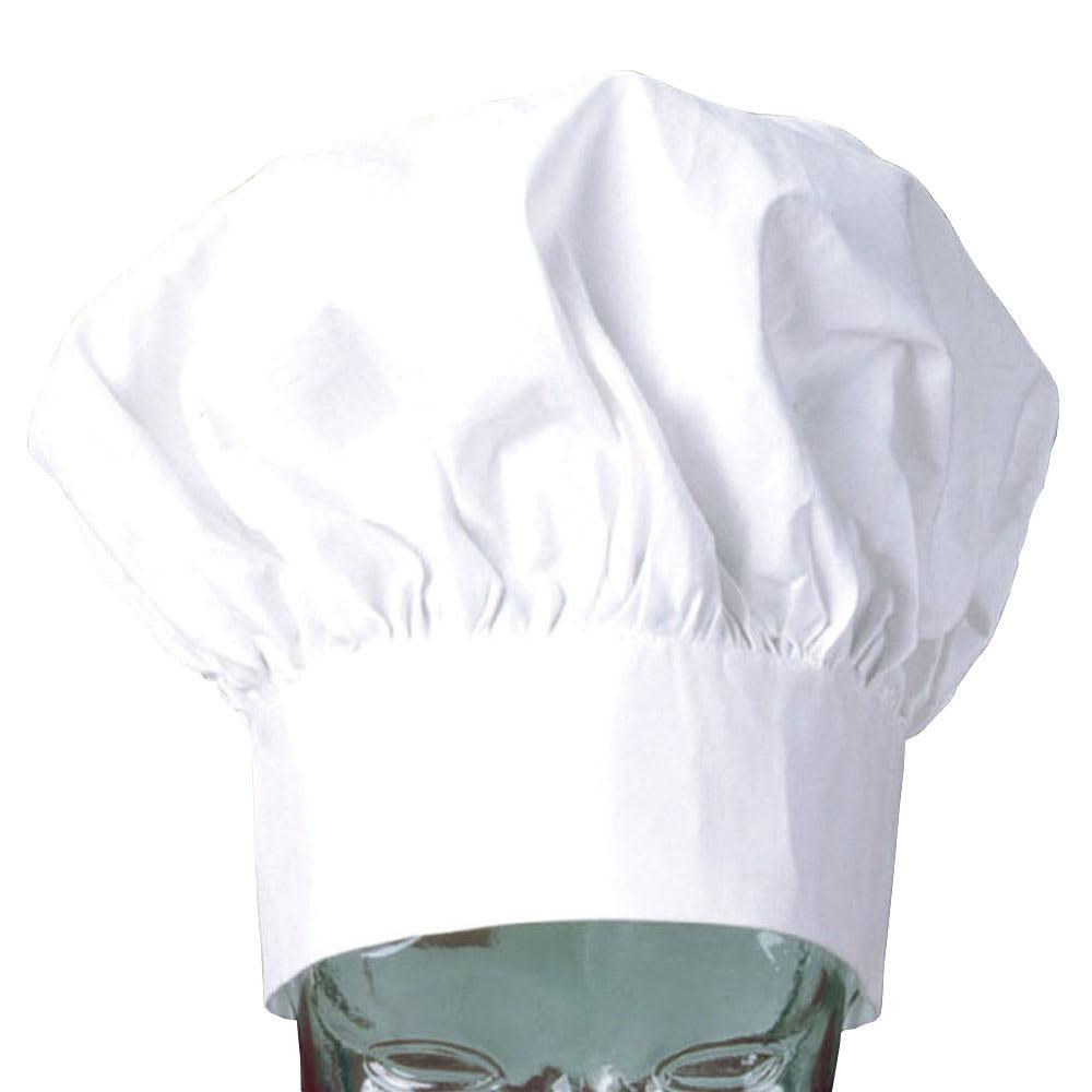 """Ritz CLCH3-1 13"""" Chef's Hat w/ Velcro Closure - Poplin, White"""