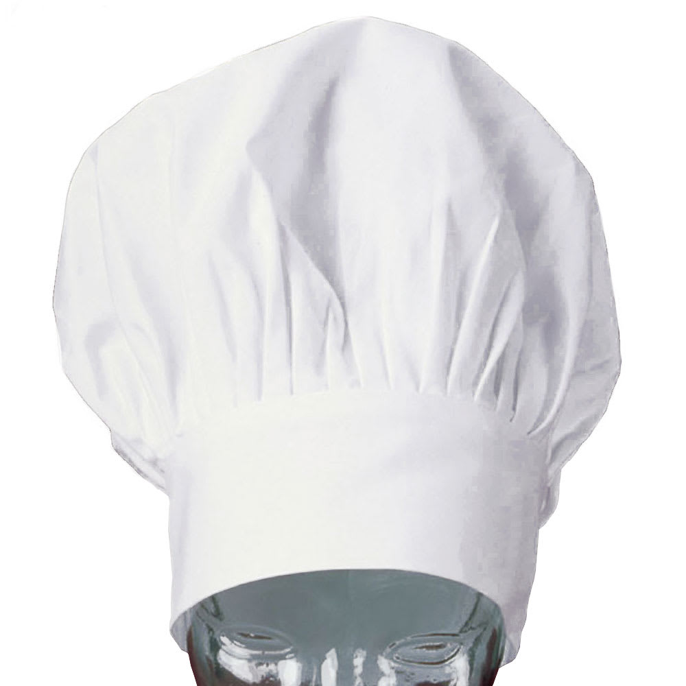 Ritz Clch3d 1 13 Chef S Hat W Adjustable Closure Poplin White