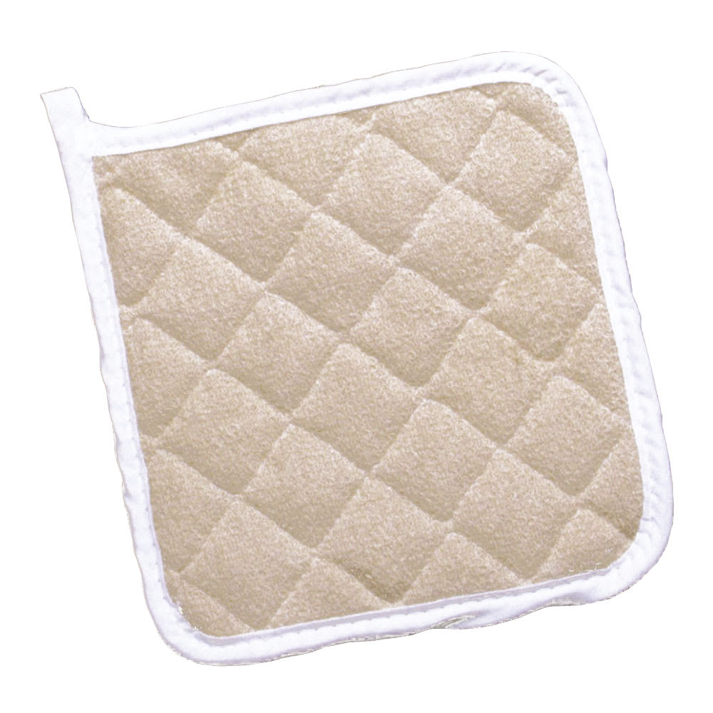 "Ritz CLTPH8BE-1 8"" Square Pot Holder - Terry, Beige"