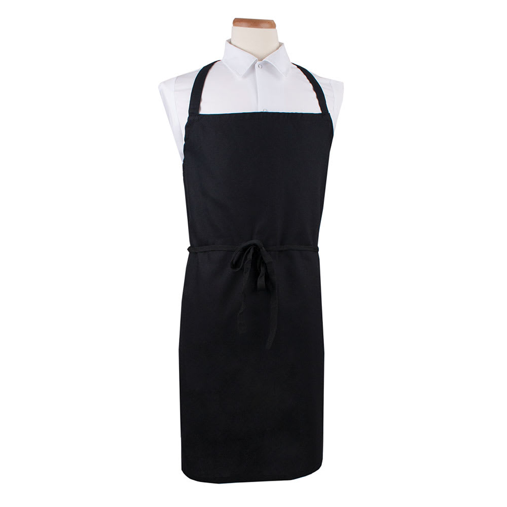 "Ritz CLWBABK-1 Bib Apron - 36"" x 32.5"", Cotton/Poly, Black"