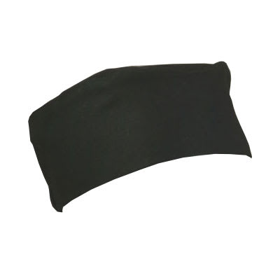 Ritz RZCBBK Chef's Skull Cap w/ Elastic Band, Black