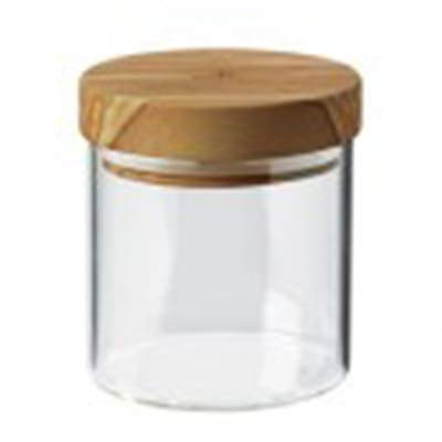 Berard BER35100 13.5-oz Glass Storage Jar w/ Olive Wood Lid