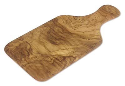 """Berard BER54072 11"""" Handcrafted Cutting Board w/ Handle, Olive Wood"""