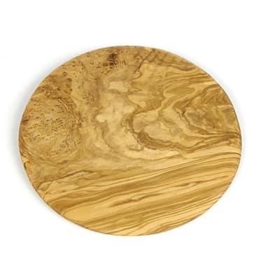 """Berard BER54177 9"""" Round Olive Wood Cutting Board"""