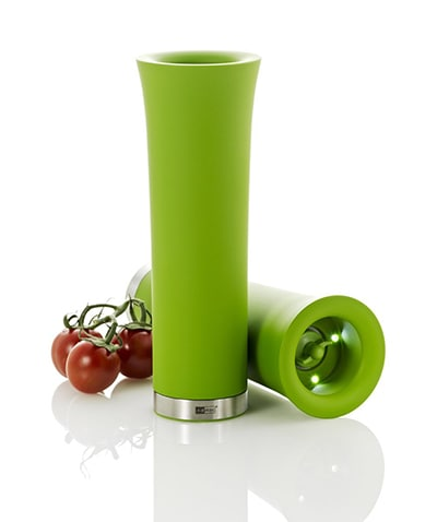 """Adhoc 78EP56 8"""" Electric Pepper or Salt Mill, Milano, Green"""