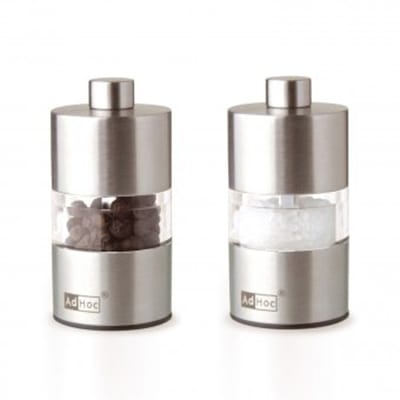 """Adhoc 78MP31 2.5"""" Salt and Pepper Minimill Set, Acrylic and Stainless"""