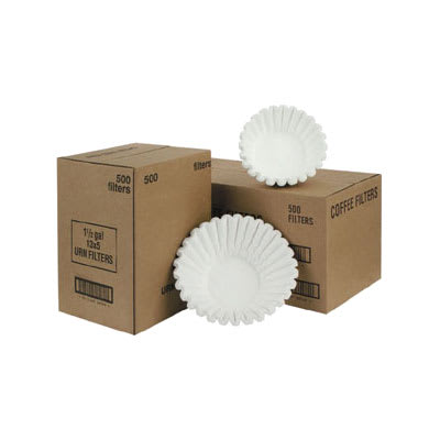 """Fetco F001 Paper Coffee Filters for TBS-2121, 2050, & 5000 Series - 15"""" x 5.5"""""""