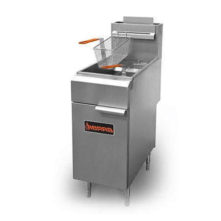 Sierra Range SRF-35/40 Gas Fryer - (1) 40 lb Vat, Floor Model, NG