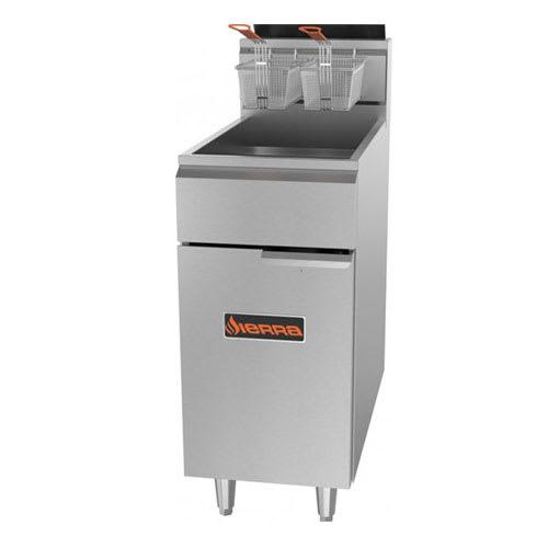 Sierra Range SRF-40/50 Gas Fryer - (1) 50-lb Vat, Floor Model, NG