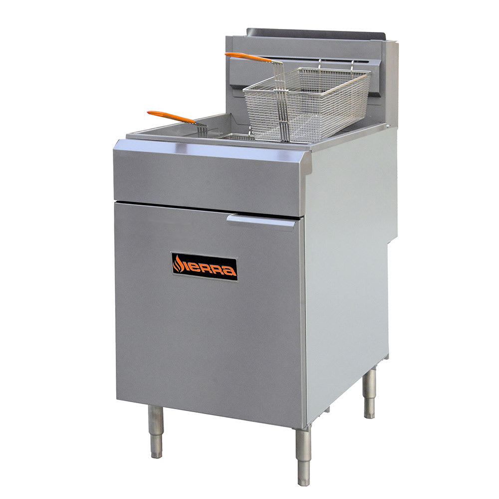 Sierra Range SRF-75/80 Gas Fryer - (1) 80 lb Vat, Floor Model, NG