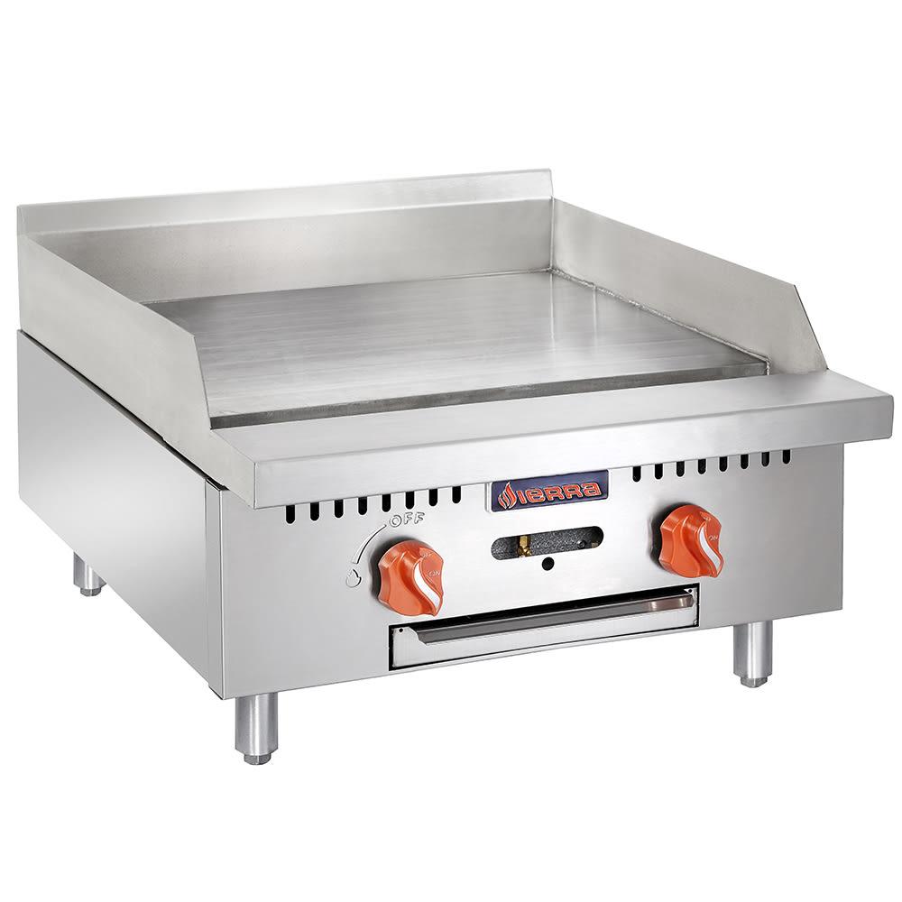 """Sierra Range SRMG-24 24"""" Gas Griddle - Manual, 3/4"""" Steel Plate, LP"""