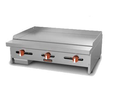 """Sierra Range SRMG-48 48"""" Gas Griddle - Manual, 3/4"""" Steel Plate, LP"""
