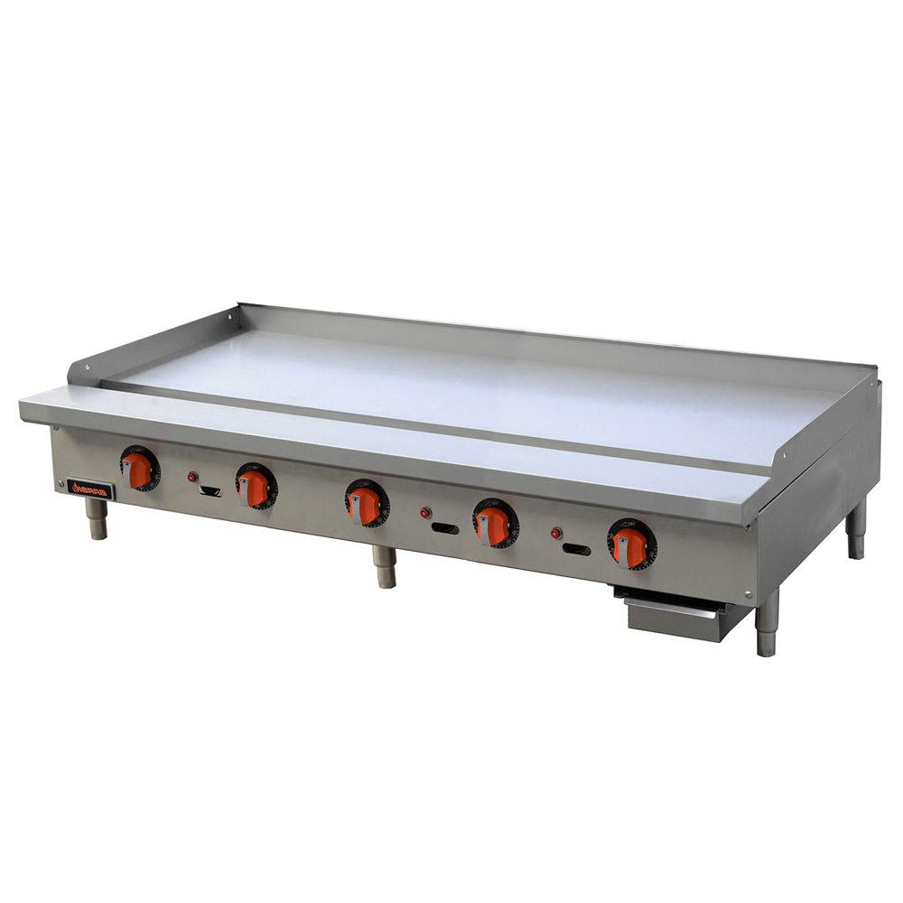 """Sierra Range SRTG-60 60"""" Gas Griddle - Thermostatic, 1"""" Steel Plate, NG"""
