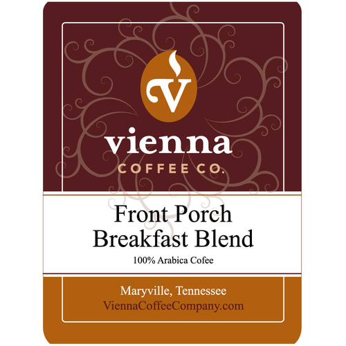Vienna Coffee WFPBBW-12 12-oz Whole Bean Coffee, Front Porch Breakfast Blend