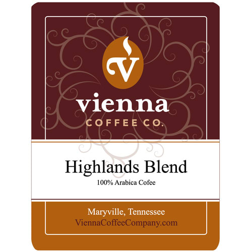 Vienna Coffee WHG-12 12 oz Ground Coffee, Highlands Blend