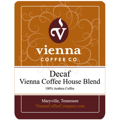 Vienna Coffee WVCHDG-12 12 oz Ground Decaf Coffee, Vienna Coffee House Blend