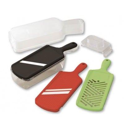 Kyocera CSN-550 SET Slicer Set w/ Mandolin, Julienne Slicer, Grater, Container & Hand-Guard