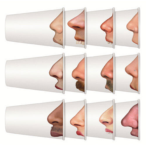 True Brands 1108 12 oz Pick Your Nose Paper Cups