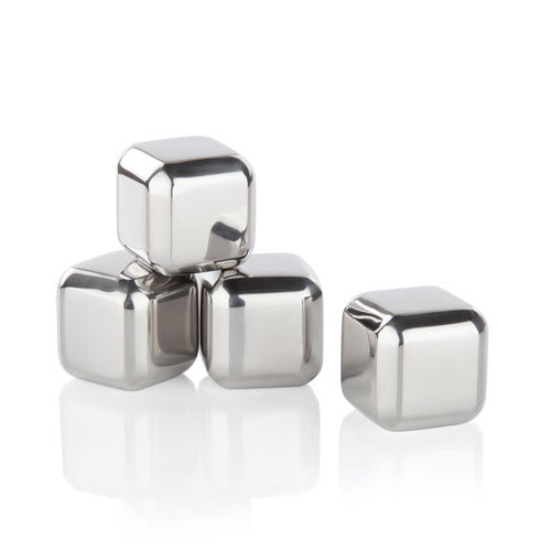 True Brands 2539 Ice Cube Rocks - Stainless Steel