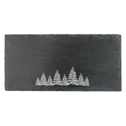 True Brands 3294 Slate Cheese Board w/ Evergreen Print