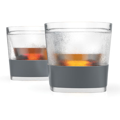 True Brands 3312 9-oz Cooling Whiskey Glass w/ Rubber Grip, Plastic