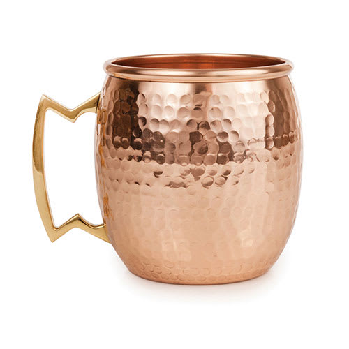 True Brands 3621 16 oz Moscow Mule Mug, Copper & Stainless Steel