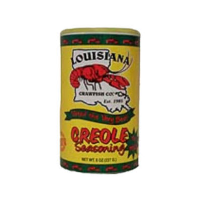 Louisiana Crawfish CREOLENOMSG 8 oz Creole Seasoning w/ No MSG