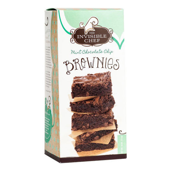 The Invisible Chef 1288 18-oz Brownie Mix - Mint Chocolate Chip
