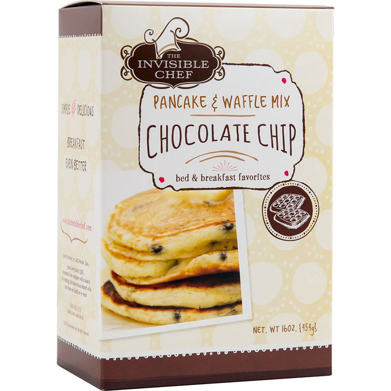 The Invisible Chef 1424 16-oz Pancake & Waffle Mix - Chocolate Chip