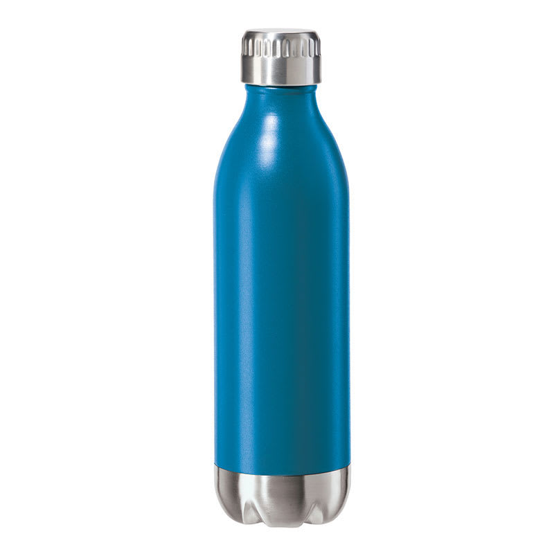Oggi 8081.5 17 oz Sports Bottle w/ Twist-on Cap, Stainless, Blue
