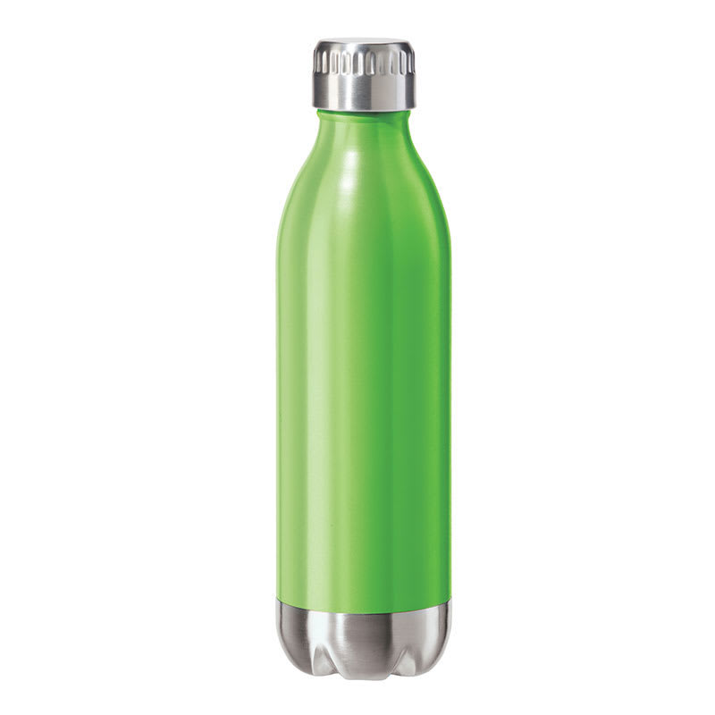 Oggi 8083.11 17-oz Sports Bottle w/ Twist-on Cap, Stainless, Green