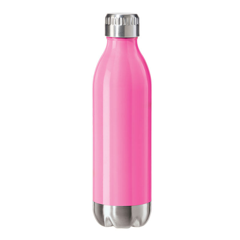 Oggi 8083.13 17-oz Sports Bottle w/ Twist-on Cap, Stainless, Pink