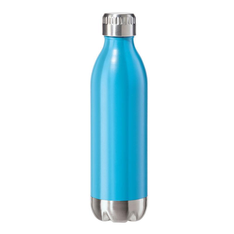 Oggi 8083.5 17 oz Sports Bottle w/ Twist-on Cap, Stainless, Blue