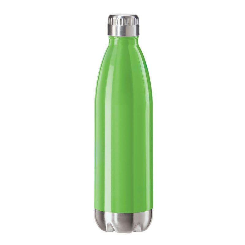Oggi 8084.11 25-oz Sports Bottle w/ Twist-on Cap, Stainless, Green