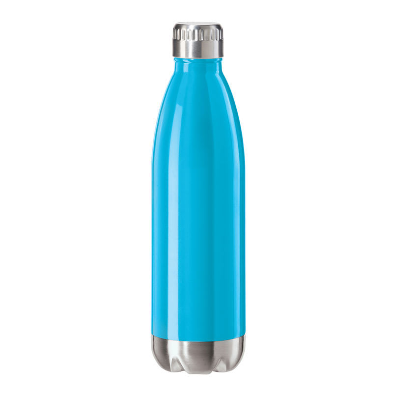 Oggi 8084.5 25-oz Sports Bottle w/ Twist-on Cap, Stainless, Blue