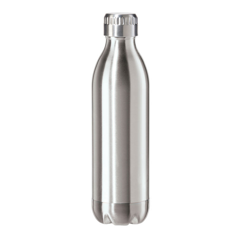 Oggi 8085.0 17-oz Sports Bottle w/ Twist-on Cap, Stainless, Satin
