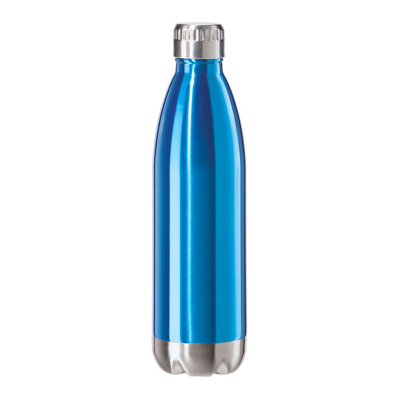 Oggi 8086.5 25-oz Sports Bottle w/ Twist-on Cap, Stainless, Blue