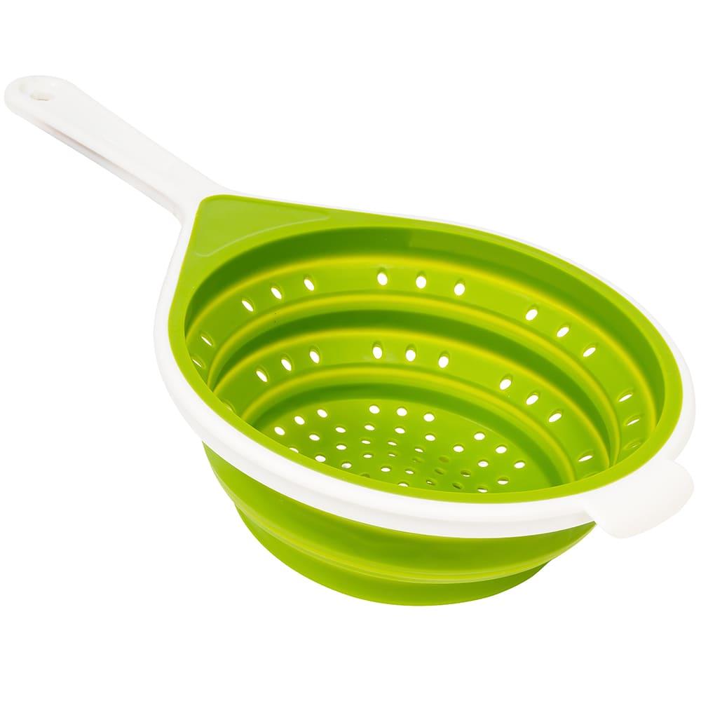 "Chef'n 102-069-011 SleekStor® 8"" Collapsible Colander w/ Handle, Green"
