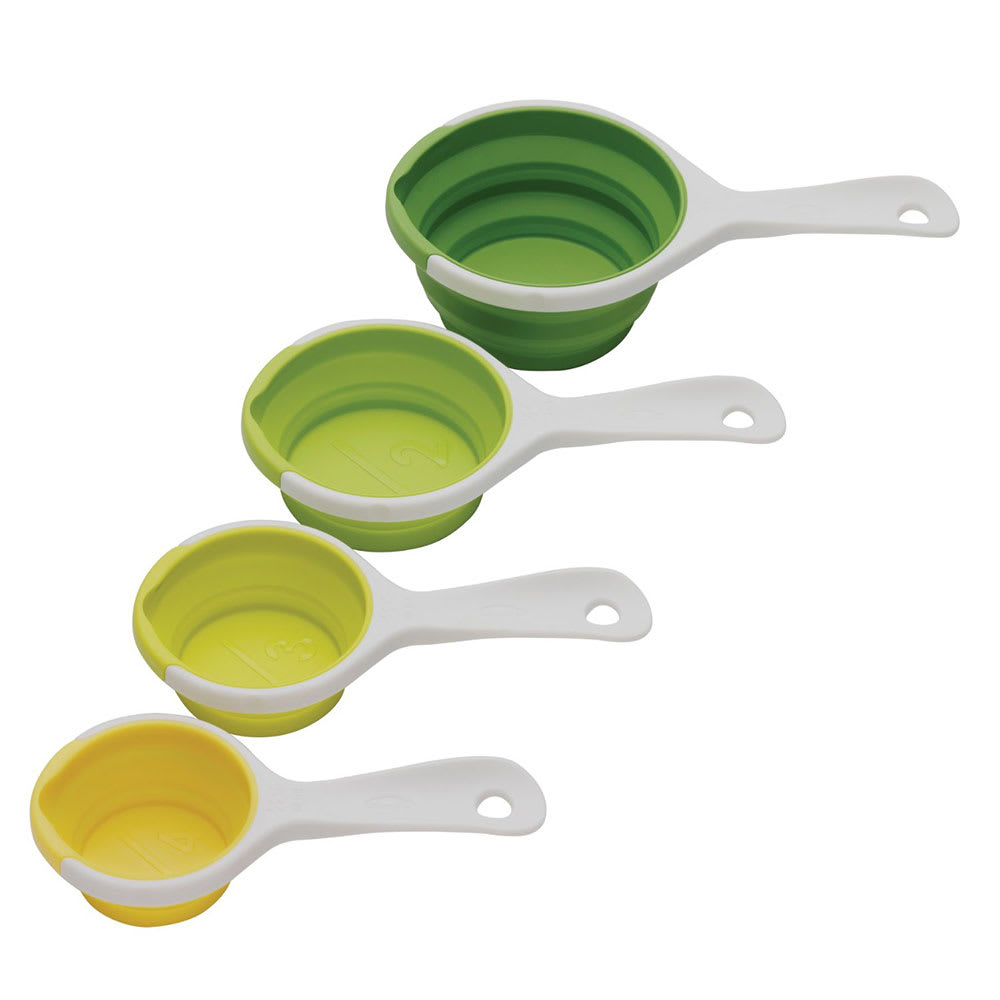 Chef'n 102-250-121 4 Piece SleekStor® Pinch + Pour Collapsible Measuring Cups, Green