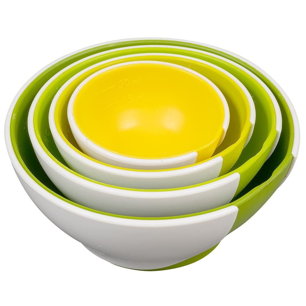 Chef'n 102-253-121 SleekStor® Pinch + Pour Nesting Prep Bowls, Green