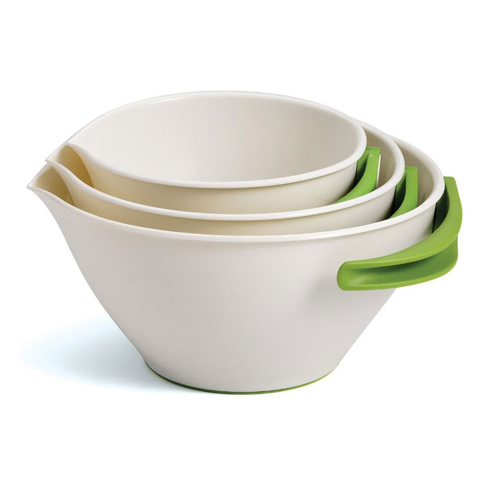 Chef'n 102-452-120 SleekStor® Pop + Pour Nesting Mixing Bowl Set w/ Handles