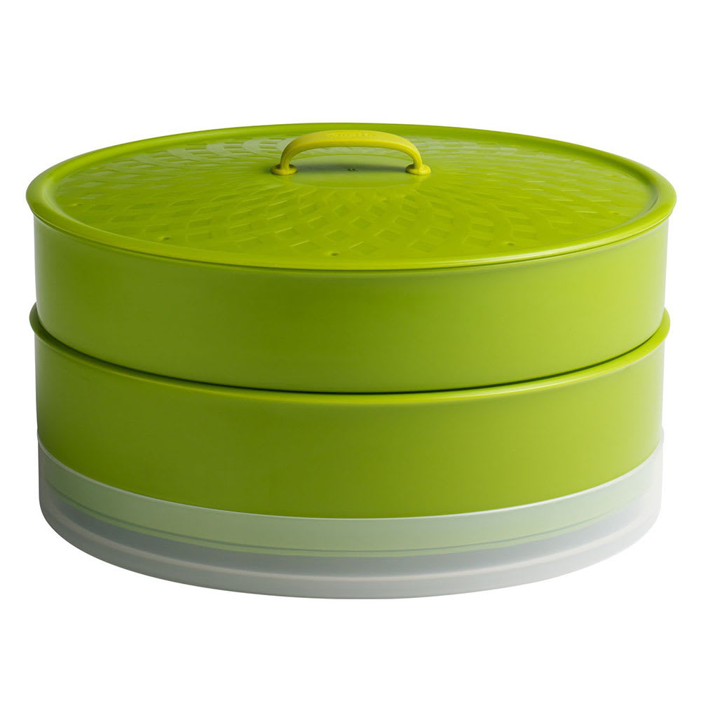 "Chef'n 102-733-062 10"" SteamSum™ Stackable Steamer w/ Divided Trays, Green"