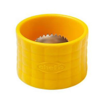 Chef'n 102-845-017 Cob™ Corn Stripper w/ Stainless Steel Blade, Yellow