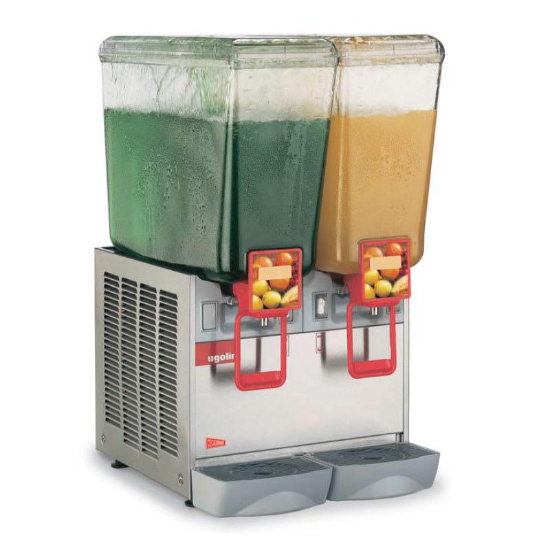 """Crathco 20/2PD 14.5"""" Cold Beverage Dispenser w/ (2) 5.4-gal Bowls, 120v"""