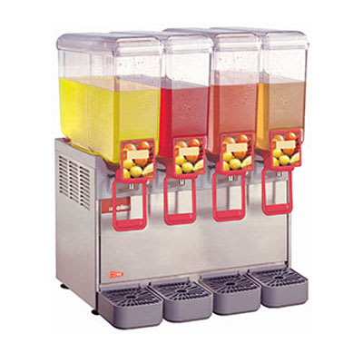 "Crathco 20/4PE 28.5"" Cold Beverage Dispenser w/ (4) 5.4 gal Bowls, 120v"